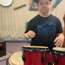 standing drummer